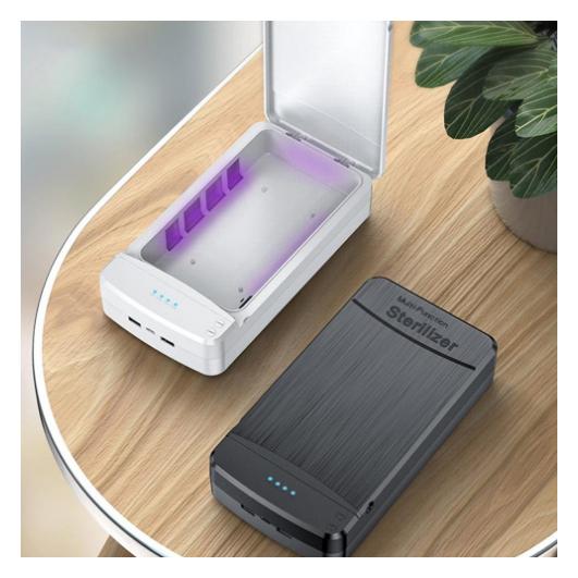 UV sterilizáló és USB töltő egyben - UVC LED sterilizáló doboz - Többfunkciós sterilizáló doboz