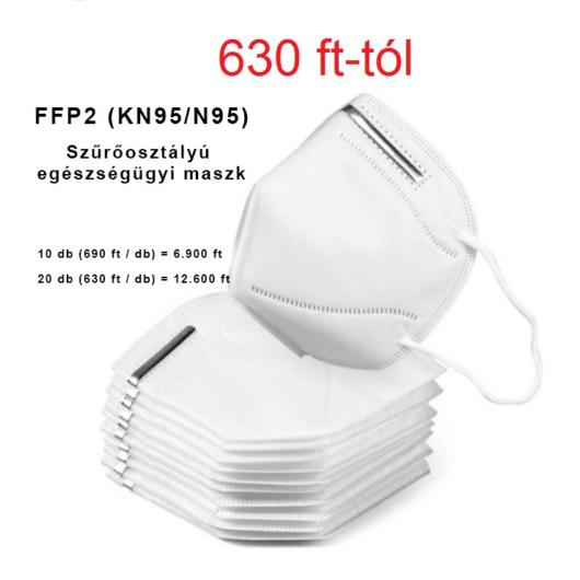 FFP2 Szűrőosztályú egészségügyi maszk